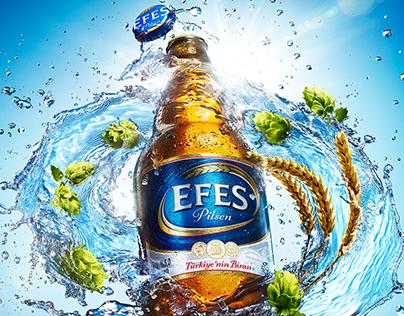 EFES Steine Bottle Splash