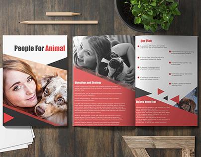 PEOPLE FOR ANIMAL - Brochure Design