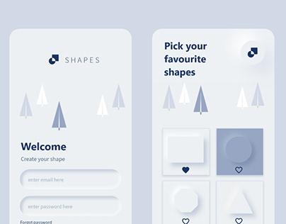 Shapes Soft UI
