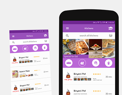 Kitchens ( homemade food app) UI/UX