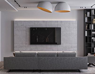 Современный интерьер квартиры для молодого человека