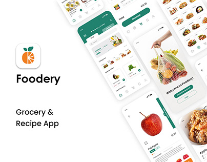 Foodery - Grocery and Recipe App with Case Study