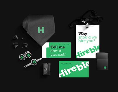 Hireble Brand Identity Design.