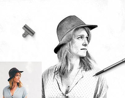 Pencil Drawing Effect Photoshop Action