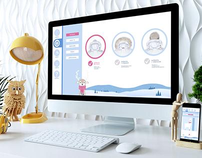 Дизайн сайта для детского магазина
