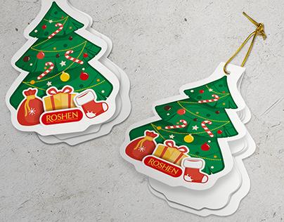 Christmas tree label