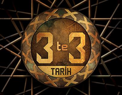 3'te 3 Tarih Logo ve Background Tasarımı