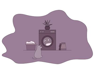 Washing&dog