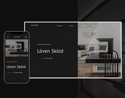 Architectural bureau Loven Skold. Website