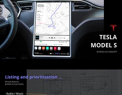 Tesla Model S - Screen UX concept