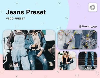 Jeans - VSCO Preset - Filteresco app