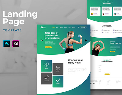 Landing Pages – Healthy Exercise