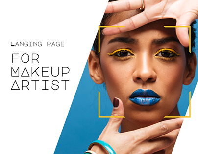 Langing page for makeup artist