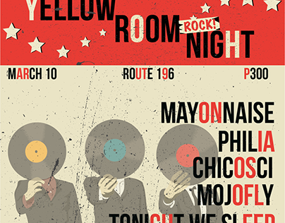 Event Posters for Yellow Room