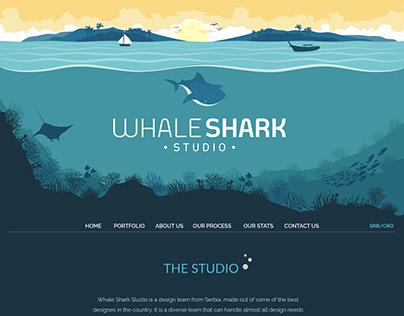 Whale Shark Studio Homepage redesign - Pharallax