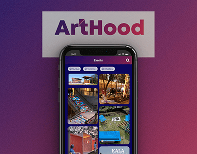 UI Design - app design for Hyper Local Art Community