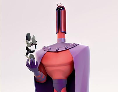 Magneto 3d statue