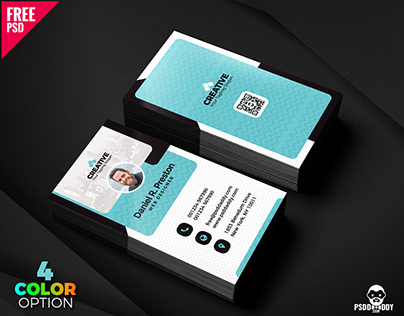 Creative and Clean Business Card PSD Bundle