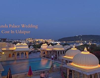 Chunda Palace Wedding Cost In Udaipur