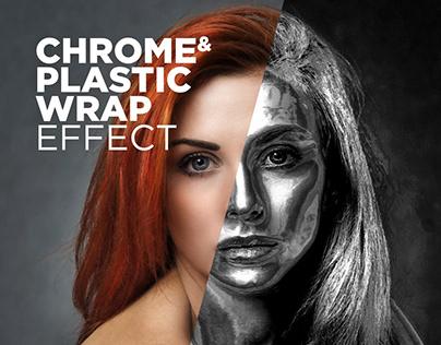 Free Photoshop Action Chrome & Plastic Wrap Effect #7