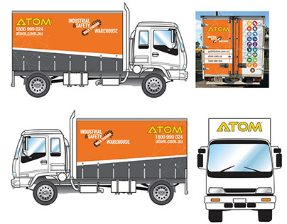 Truck Curtain & Rear Door Decals