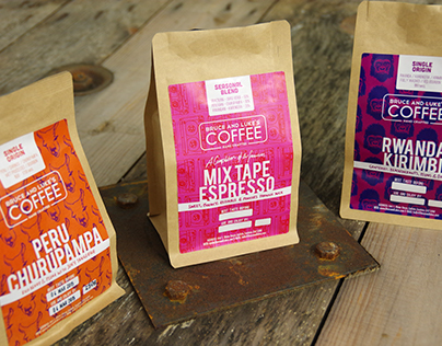 Bruce & Luke's Coffee Labels