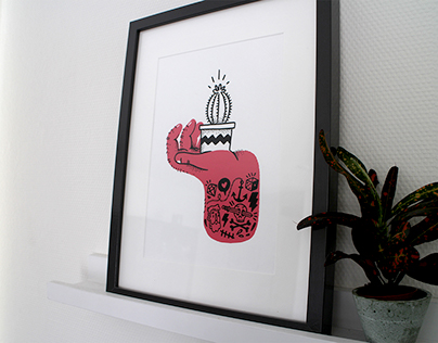 Tough Hands screen prints