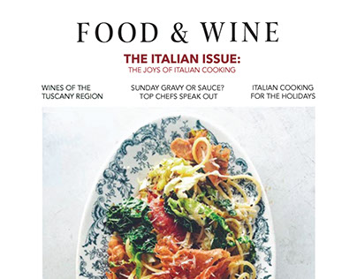 Food & Wine: Cover and Editorial Design