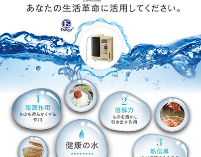 Water-purifying unit flyer