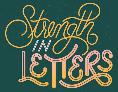 Strength in Letters Poster