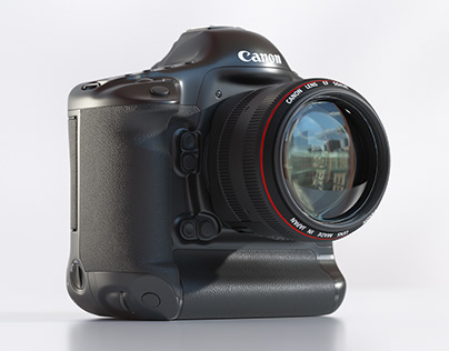 Free Canon EOS-1DX 3D model