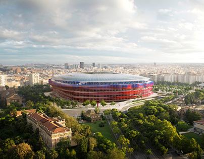 Nou Camp Nou, Ricardo Bofill & Arup Associates