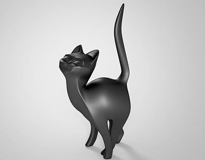 Cat figurine 3D