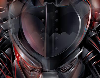 KNIGHT HUNT - Predator vs Dark Knight - Vector