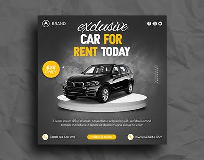 Rent A Car Instagram Post Social media post Template