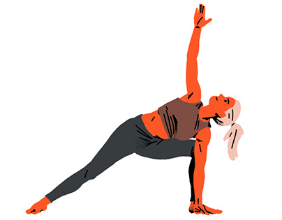 Yoga for beginners - illustrations