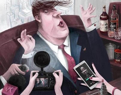 The Big Shot Character Illustration Editorial