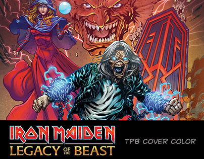 TBP Cover color. Iron Maiden Legacy of the Beast