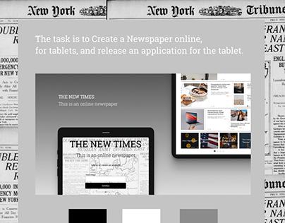 Онлайн Газета для планшета - THE NEW TIME