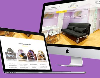 Hostel Krakatuk — concept of website