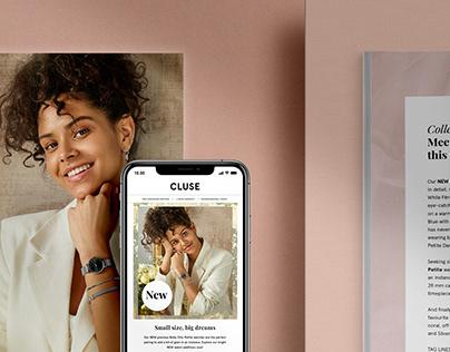 Campaign assets Spring '21 - designed for Cluse