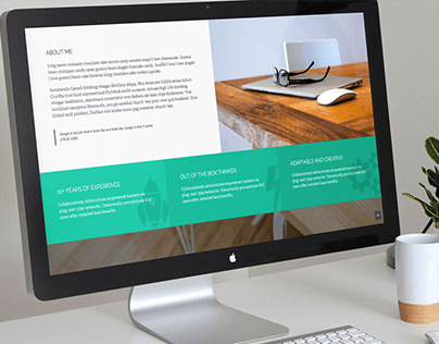 Kingster - One Page Portfolio Template