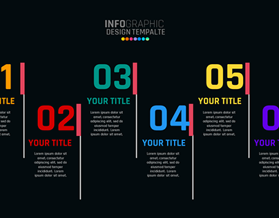 6 Step ROUNDED RECTANGULAR Infographic