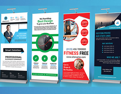Roll up Banner Design 2 and Mocup Download