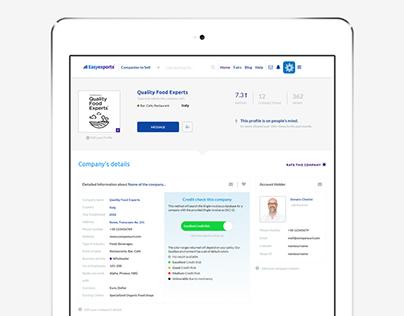 Easyexports, Dashboard, Online Platform, Website Design