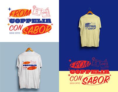 Graphics + Type treatment / T-shirts x Coppelia