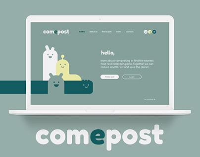 Com-e-post | Web design | Branding | Landing page
