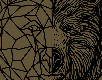 Line art illustration for groot beer poetry