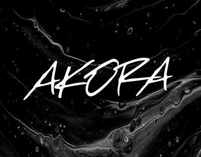 AKORA - Free Brush Typeface