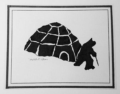 'Eskimo and Igloo' Illustration from 'Native Born Son'
